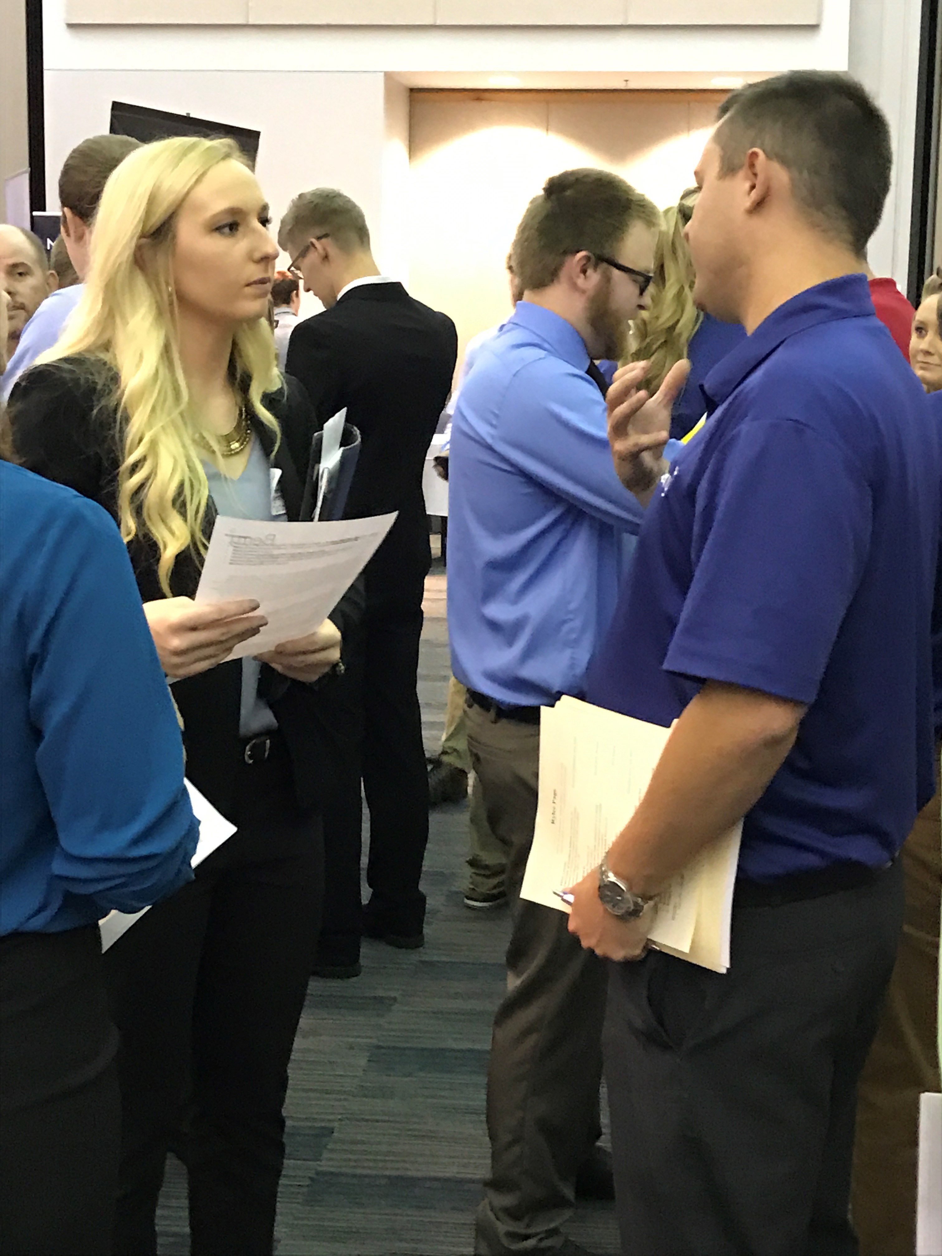 Students at CareerLINK career fair