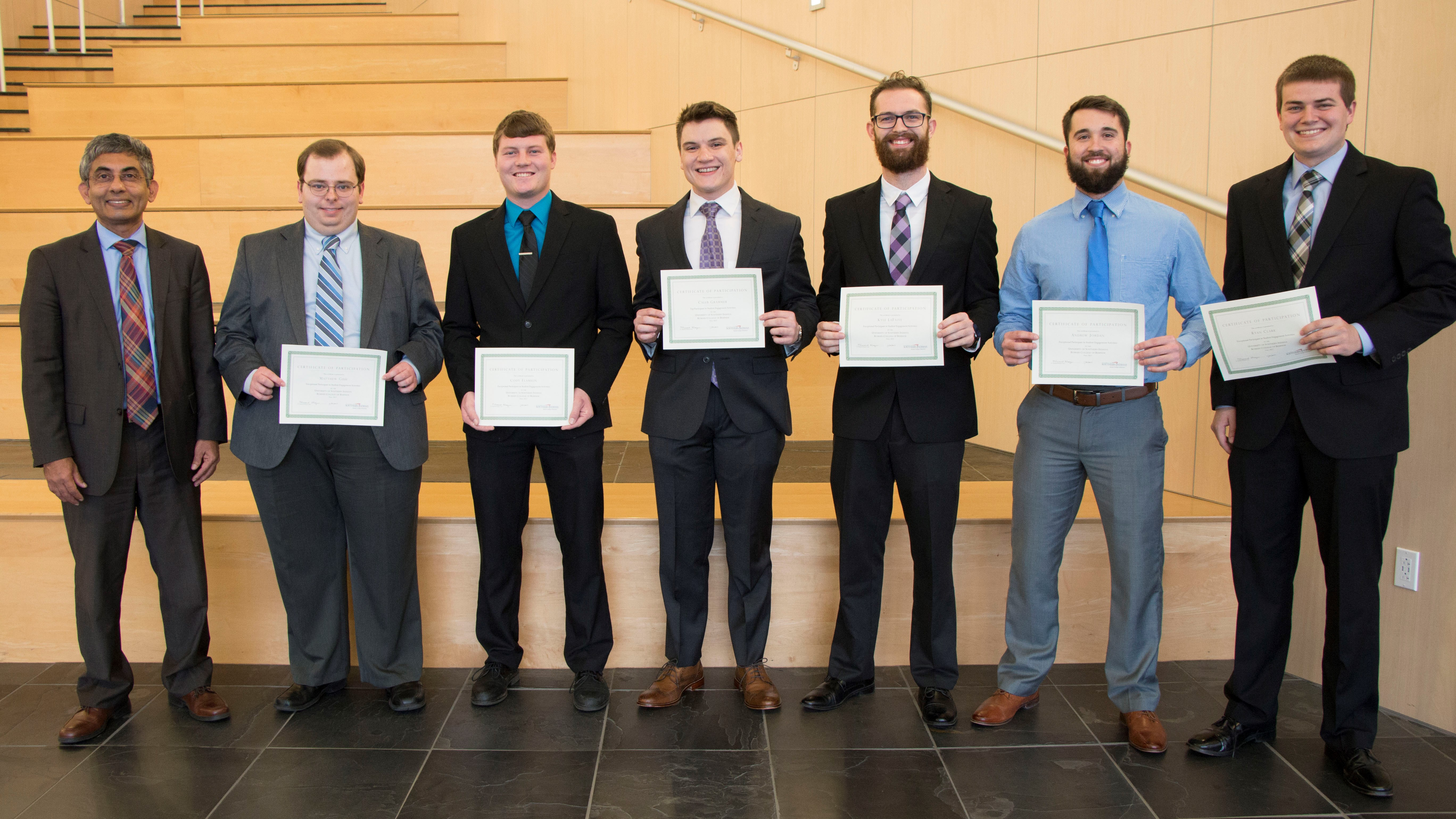 Romain College Fall 2017 Top Student Participants