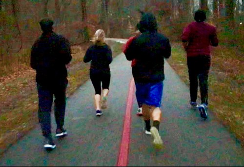 Running group on trails