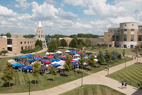 View of the Student Involvement Fair