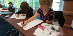 Students participating in graphic novel class