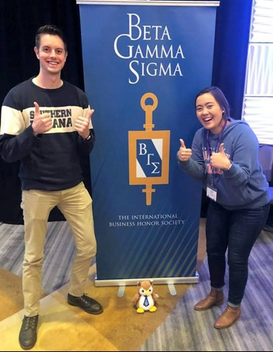 Two students represent Romain College at the Beta Gamma Sigma Global Leadership Conference