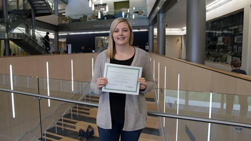 Mariah Marcuson is one of the fall 2018 top student participants at the Romain College of Business