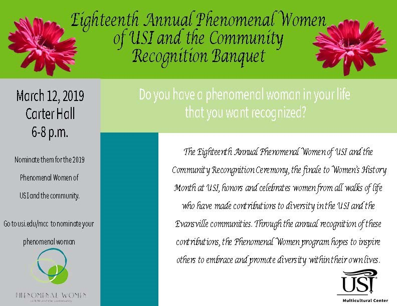 Phenomenal Women Nominations Now Open