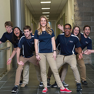 Student ambassadors posing for a photo