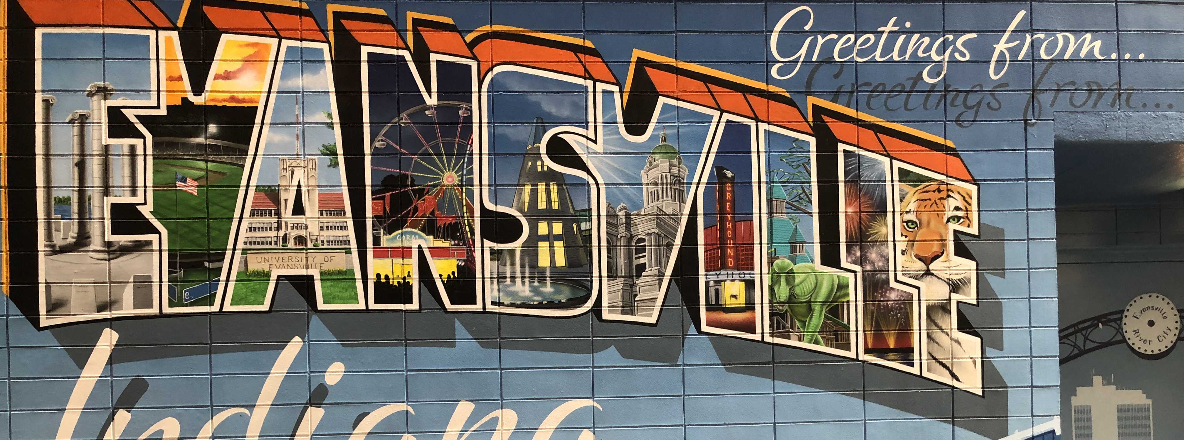 Greetings from Evansville Mural