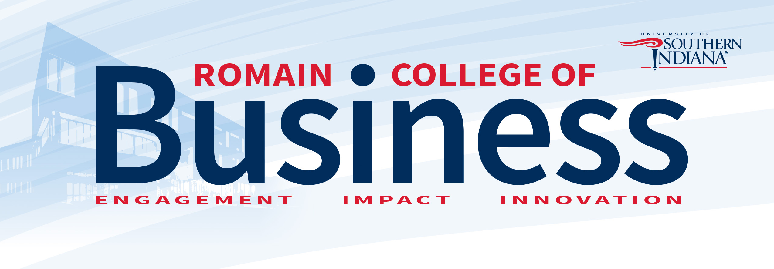 Romain College of Business newsletter banner wordmark