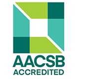 AACSB Logo. Romain College of Business is accredited in both business and accounting programs