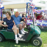 New Harmony celebrates Fourth of July with annual program, golf cart parade and picnic