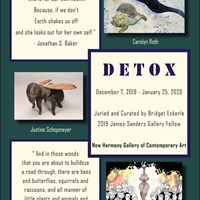 Image for New Harmony Gallery hosts student curated exhibition, Detox, featuring USI students and faculty