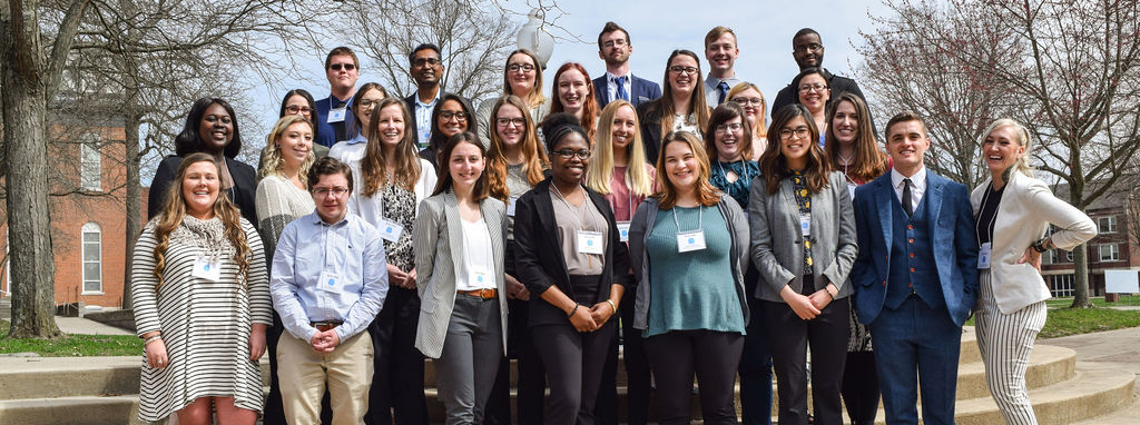 Students and faculty at the annual MAUPRC event