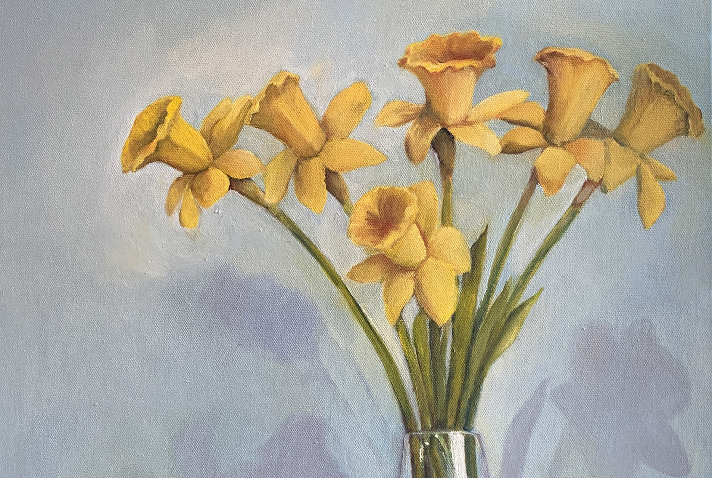 Yellow daffodils in a vase