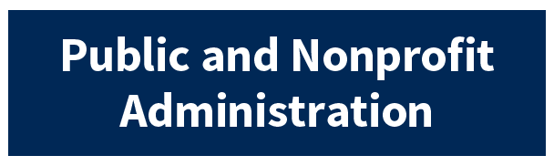 Public And Nonprofit Administration Button